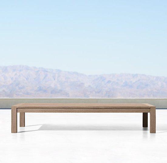 Restoration Hardware Aegean Teak Outdoor Coffee table