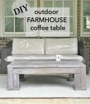 DIY : Outdoor Wood Coffee Table  For Less