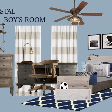 Nautical Boy's Bedroom Mood Board