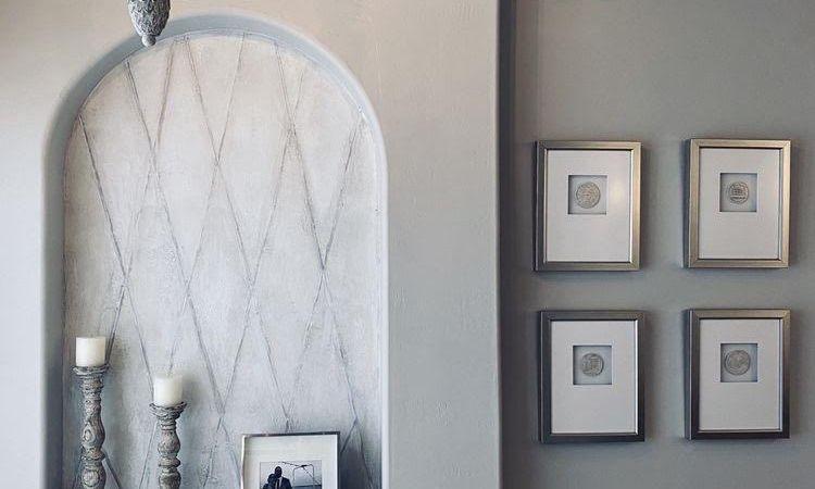 Neutral Gray Texture Wall Sherwin Williams Stencil