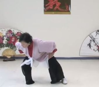 Qigong   Tai Chi Notebook Cloud Hands gives the name of this one as Big Bear Turns from Side to Side   Master Faye Yip  in her video  rocks from one side to the other and rolls  the