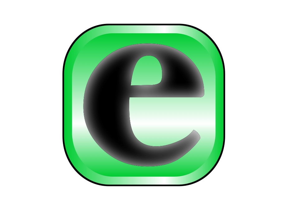 Lower case e