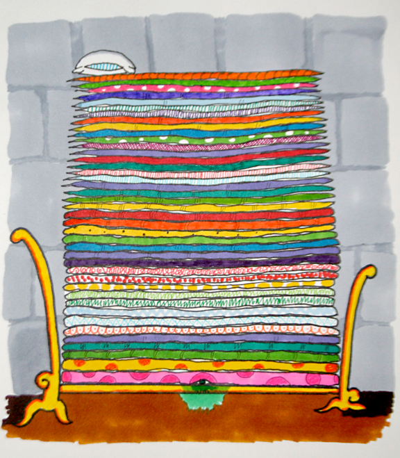 Podcast illustration: Princess and the Pea