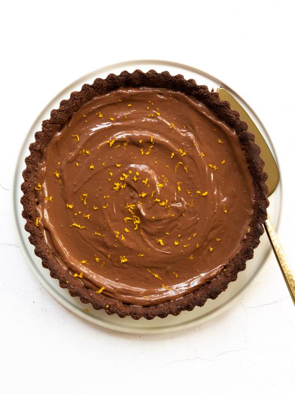 Vegan Chocolate Orange Tart