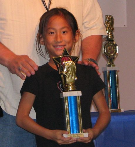 Coco with her 3rd Place trophy.