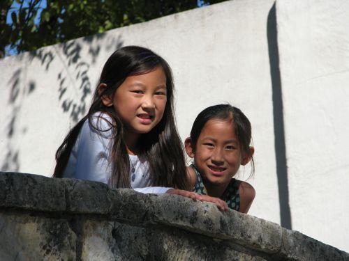 Pretty girls on the LaVillita Bridge.