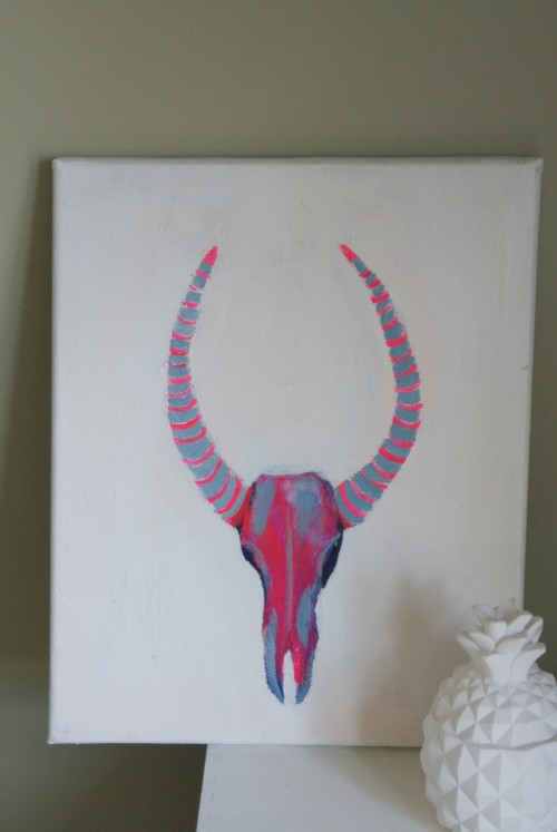 Antler painting at elizabethdanon.co.uk