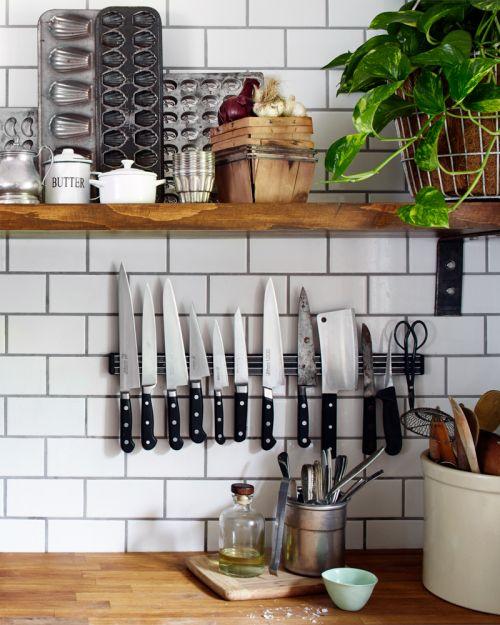 interior design, kitchen, knives, home