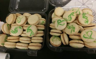 DNA macarons. Pretty typical lab fare.