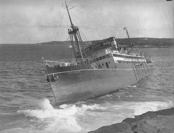 The wreck of the MV Malabar