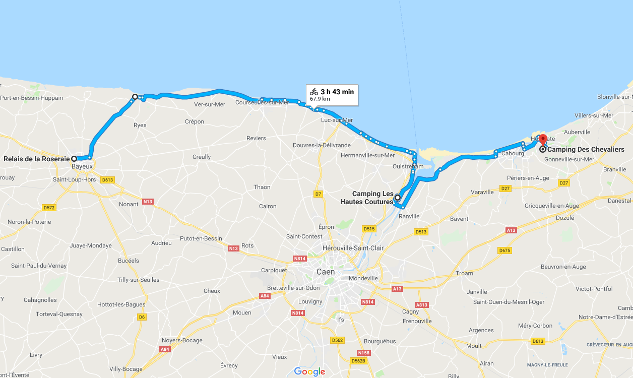 My route - click to enlarge.