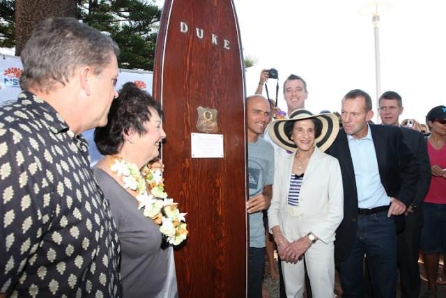 Duke's surfboard, Kelly Slater, Marie Bashir, Tony Abbott and Mike Baird