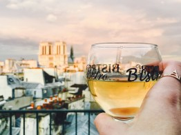 Rooftop wine in Paris with a view!