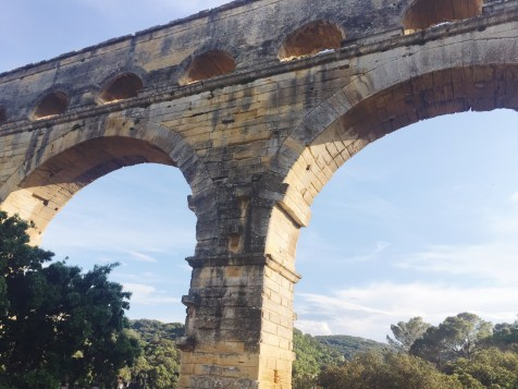 View of the Pont du Gard in Nimes