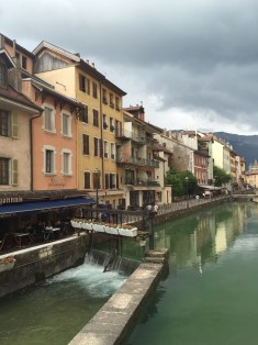 Annecy is a town in the French Alps