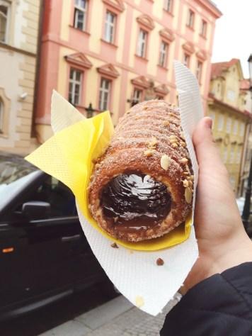 Chimney cake in Prague!