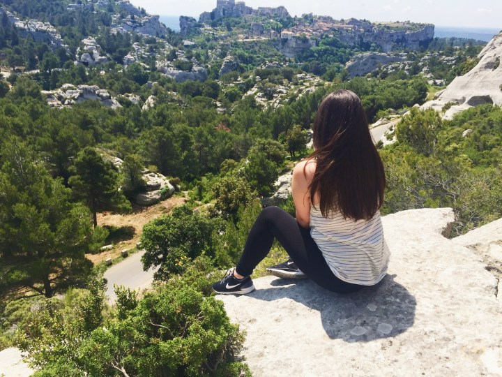 Enjoying the view of Les Baux