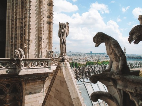 View from the top of Notre Dame in the 4th Arrondissement