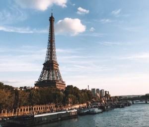 The Eiffel Tower winter in paris