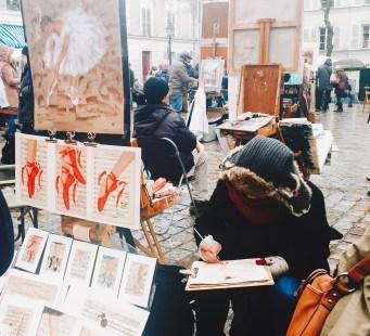 Artist in the Place du Tertre Montmartre