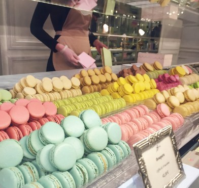 Macarons at Laduree Where to eat in Paris