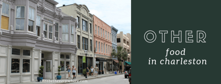 Where to eat in Charleston SC