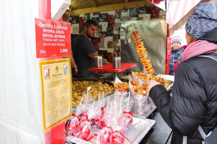 Bratislava food christmas market