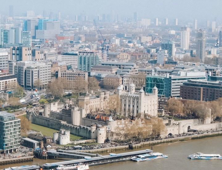 View from Ting Best Restaurants near London Bridge