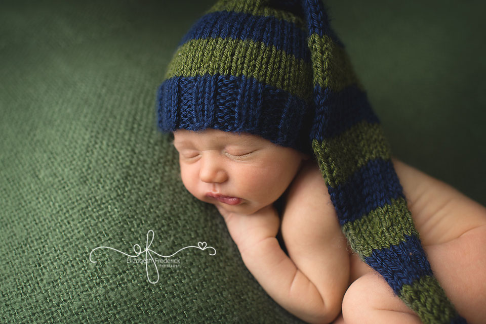 Green & Navy Newborn Photography Session | CT Newborn Photographer Elizabeth Frederick Photography