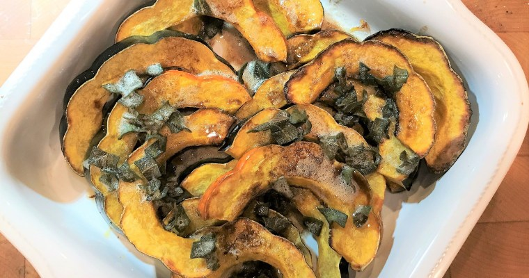 Roasted Acorn Squash with Brown Butter & Crispy Sage