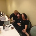 Hanging out with the lovely Tina Reber and Michelle Scott. Two lovely writers and great friends.
