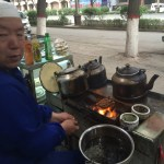 Open grill in Qinghai province.