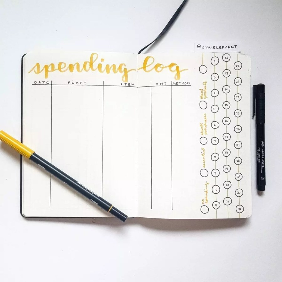 yellow spending log