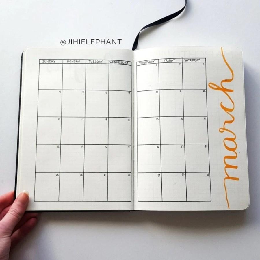 orange march month Ellen