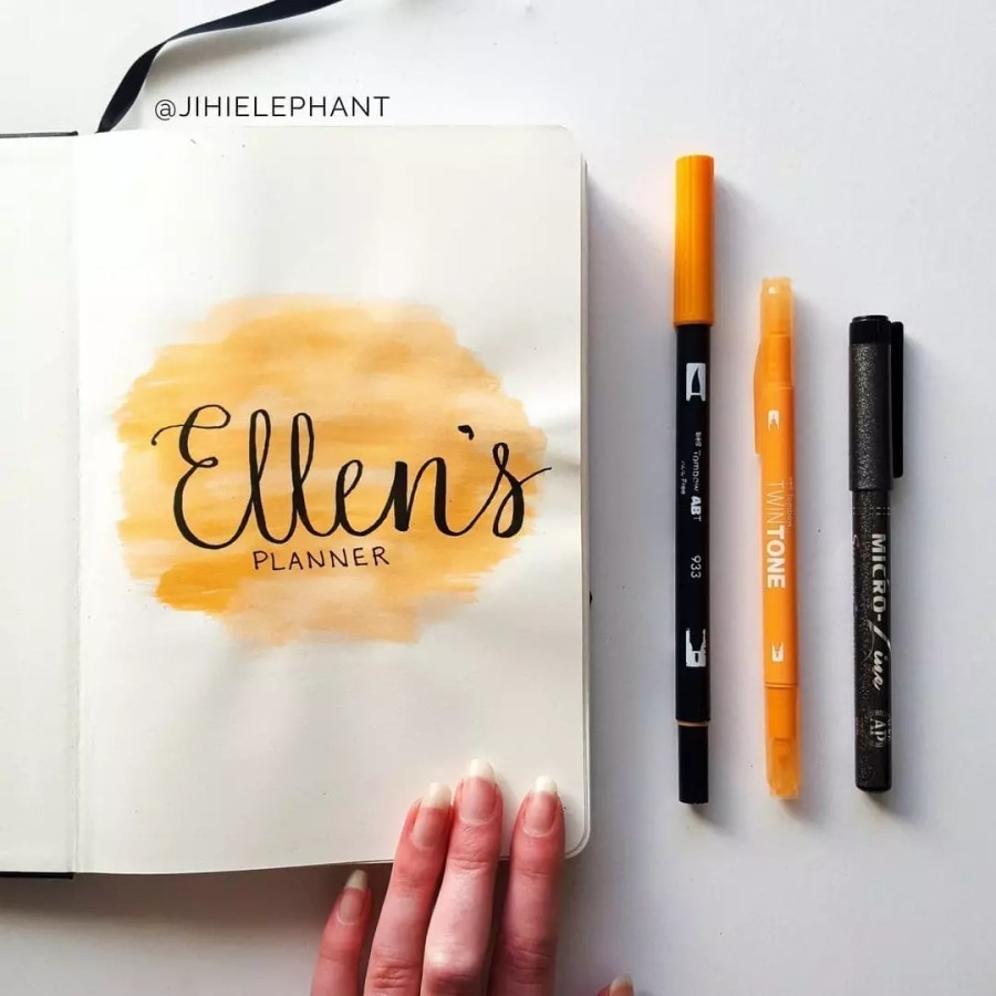 orange title Ellen