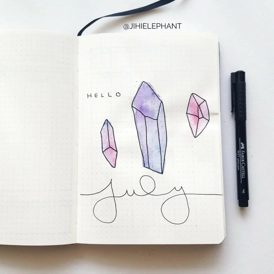 purple pink july crystal title Sam
