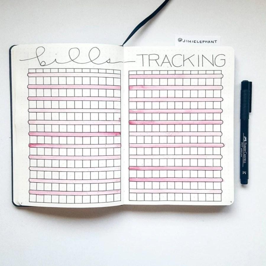 pink bill track finances Emily