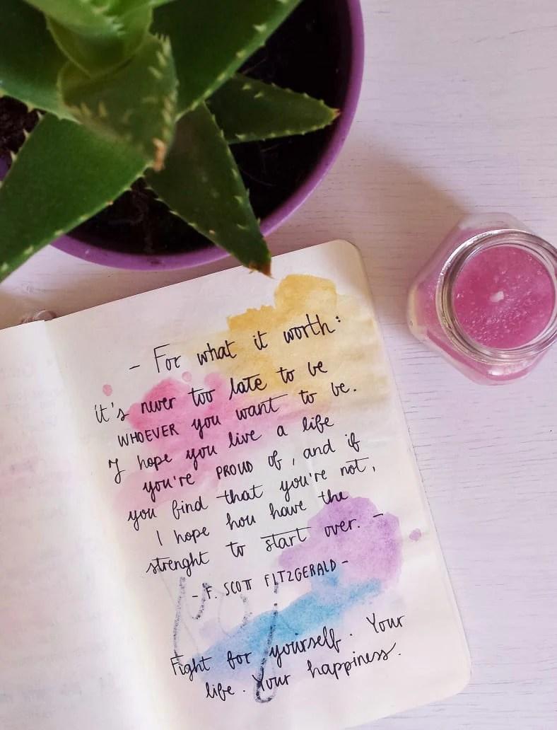 29 Gorgeous Watercolor Bullet Journal Layout Ideas