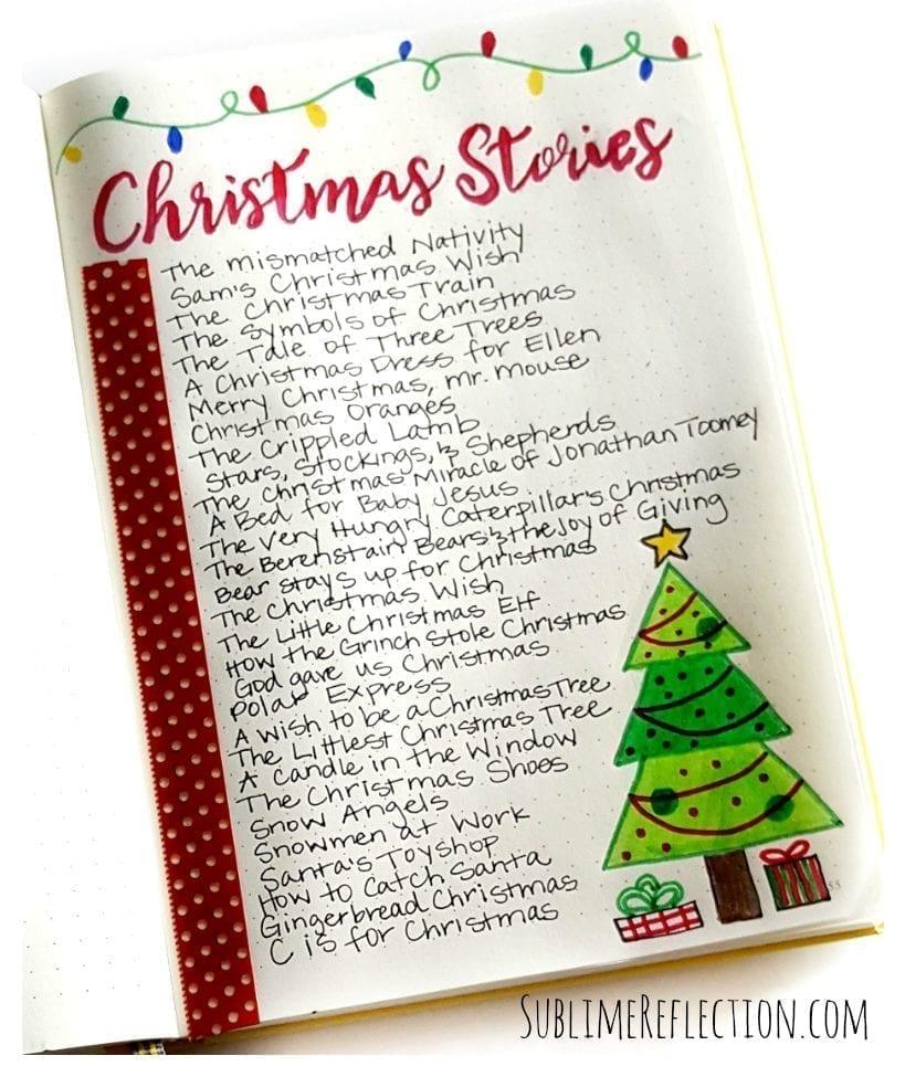 33 Festive Christmas Bullet Journal Layout Ideas