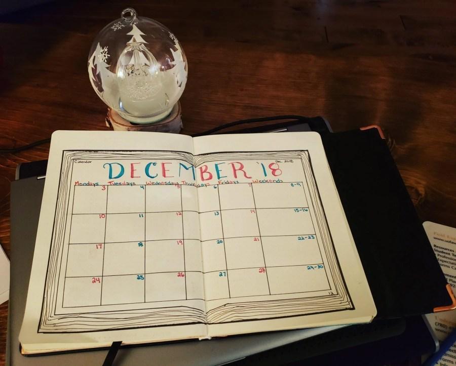 December Bullet Journal Feature   Ashlee of @scribblesofsubstance