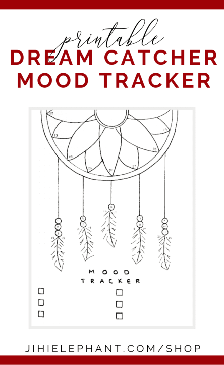Dream Catcher Mood Tracker Bullet Journal Printable