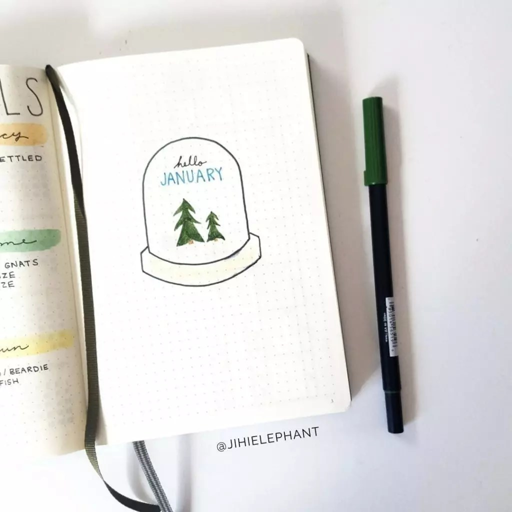 January Plan with Me   My First Bullet Journal Layout of 2018