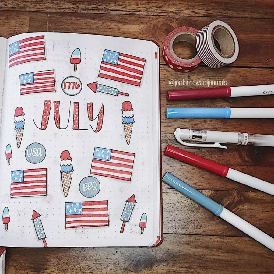 Hello 4th of July by @jordanhowardjournals