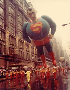 It's a bird! It's a plane! It's ... a bloaty, floaty Superman in the 1966 Macy's Thanksgiving Day Parade. Macy's photo