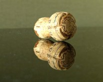 Champagne cork reflection