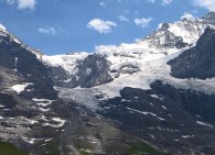 Looking back up at Jungfraujoch and Top of Europe.
