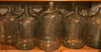 Empty carboys.