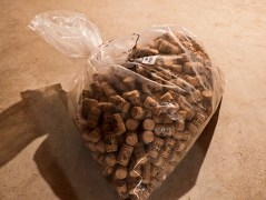 A bag of corks.