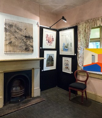 Display in one room of Vienna Cottage. Built in 1871, this was a typical tradesman's cottage with four rooms in the main building and another small detached building.