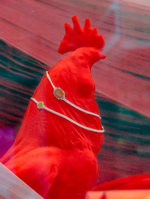 Hermes: red rooster and jewellery